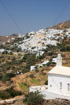 Tinos Island Village and Church