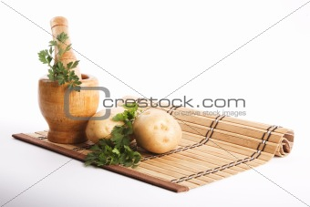Food ingredients isolated on white