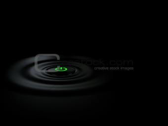 Power Button on black background