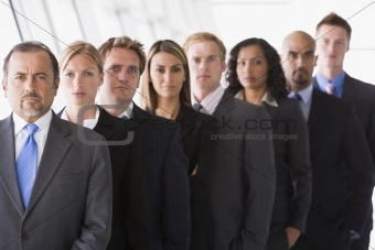 Group of office staff lined up