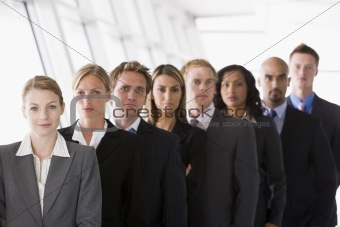 Group of office workers lined up