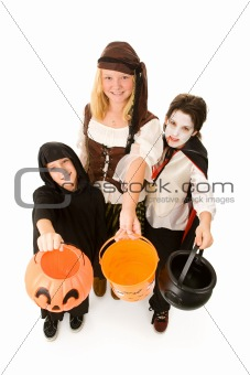 Halloween Kids Want Candy