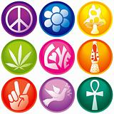 Nine 60s Icon Buttons