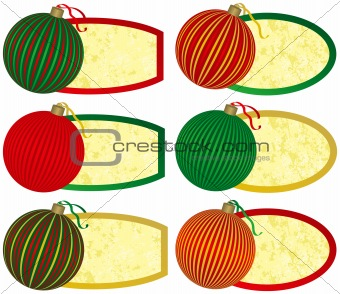 Six Elegant Christmas Tags