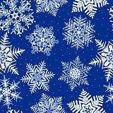 Seamless Repeating Snowflake Background