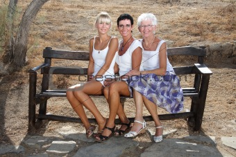 three generations of female beauty