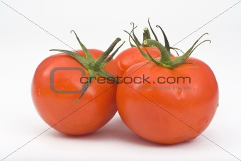 Juicy Isolated Tomatoes