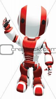 3d Robot waving at viewer