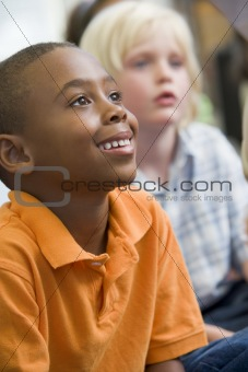 Boys in kindergarten class