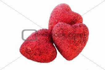 3 isolated hearts