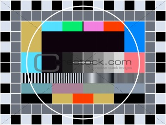 TV transmission test card