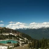 Summit of Whistler Mountain at summertime