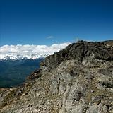 Summit of Whistler Mountain at summertime