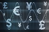 Blue Global Currency Business Abstract Background