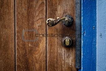 Old door handle and locker