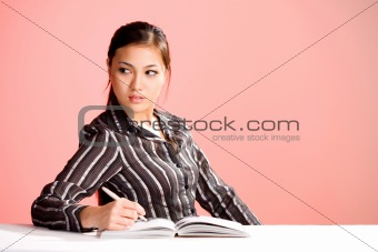 young asian business woman in formal wear