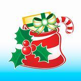 Santa sack with xmas decoration