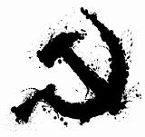 Hammer and sickle splatter element