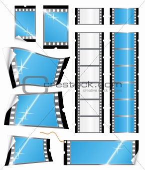 Film strip tags and stickers