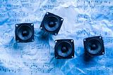 Music - speakers and notes