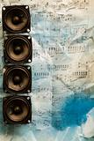 Speakers on old notes