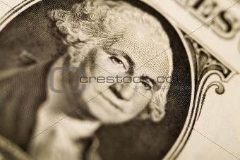 Detail closeup dollar