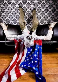 Mask & Flag