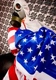 American flag &amp; Freak in the mask
