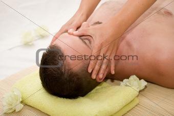 man in massage