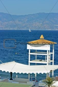 Beach detail - resque tower