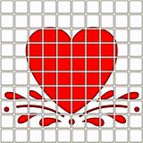 heart in tile pattern
