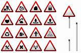 Traffic Sign Button Set