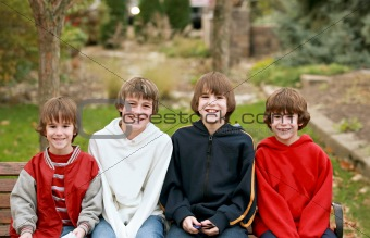 Four Boys Smiling