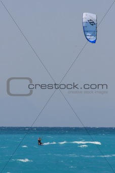 kite boarder  on  Lefkas Island