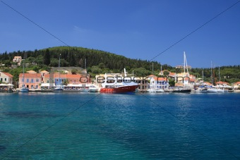Fiskardo on the Ionian island of Lefkas Greece
