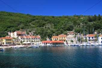 Fiskardo on the Ionian island of Lefkas Greece