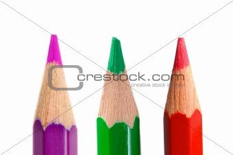 Three crayons vertically