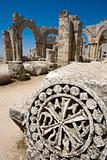 Syrina ruins of old castle not so far from Latakia