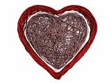 3D Rendered Wire Heart - Isolated