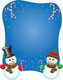 Vector snowpeople background