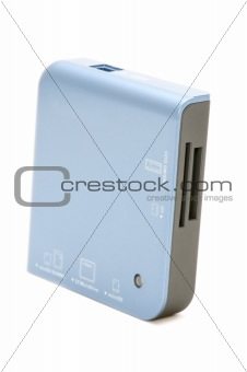 card reader on white