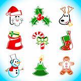 Xmas Santa icons