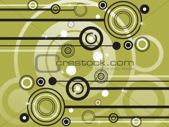 abstract green halftone background, illustration