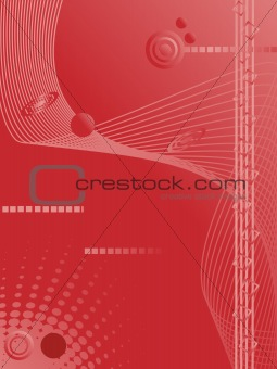 abstract red background, vector illustration