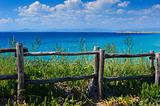 Wooden cliff fence