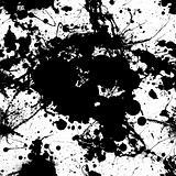 ink splat tile black