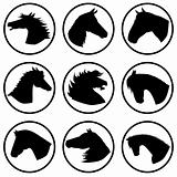 Icons with horse heads