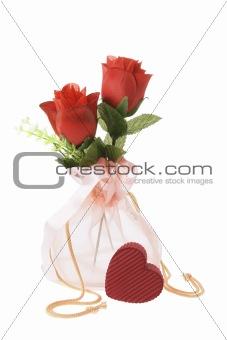 Red Roses in Sachet
