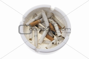 Cigarette Butts on Ash Tray