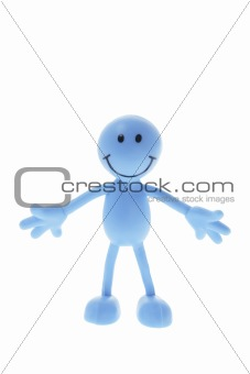 Smiley Rubber Figure